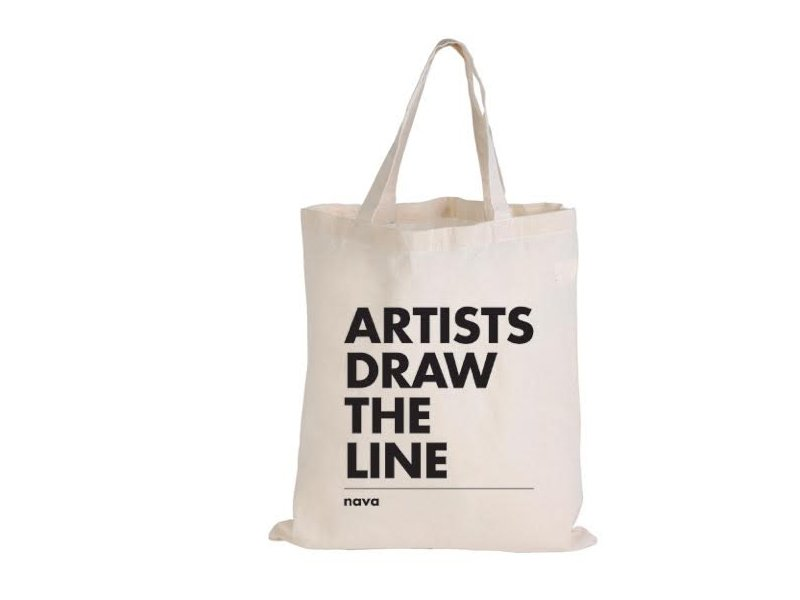 Artists Draw The Line Nava Tote Bag Products Nava