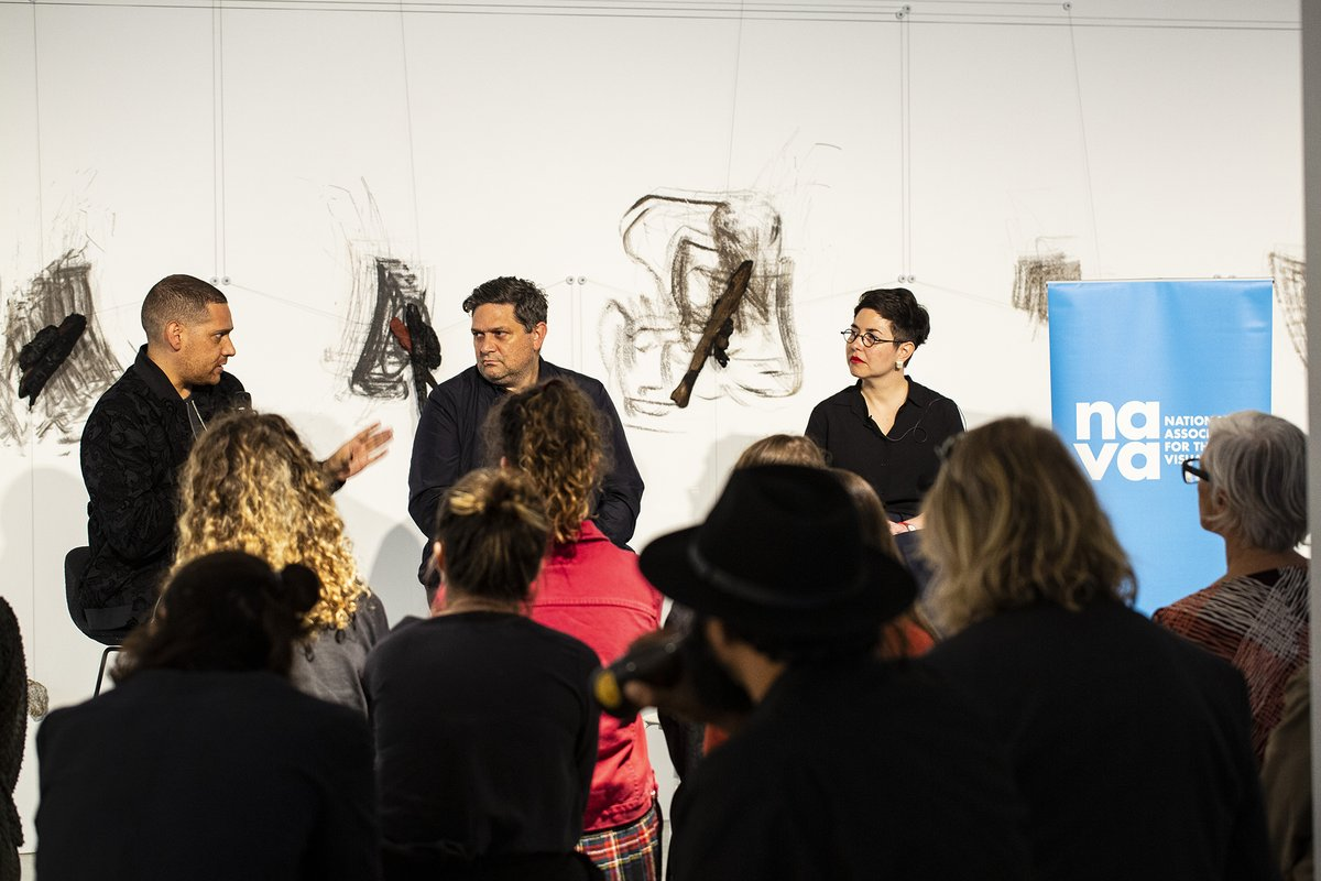 Tony Albert, Wesley Enoch and Esther Anatolitis, photo by Tanja Bruckner