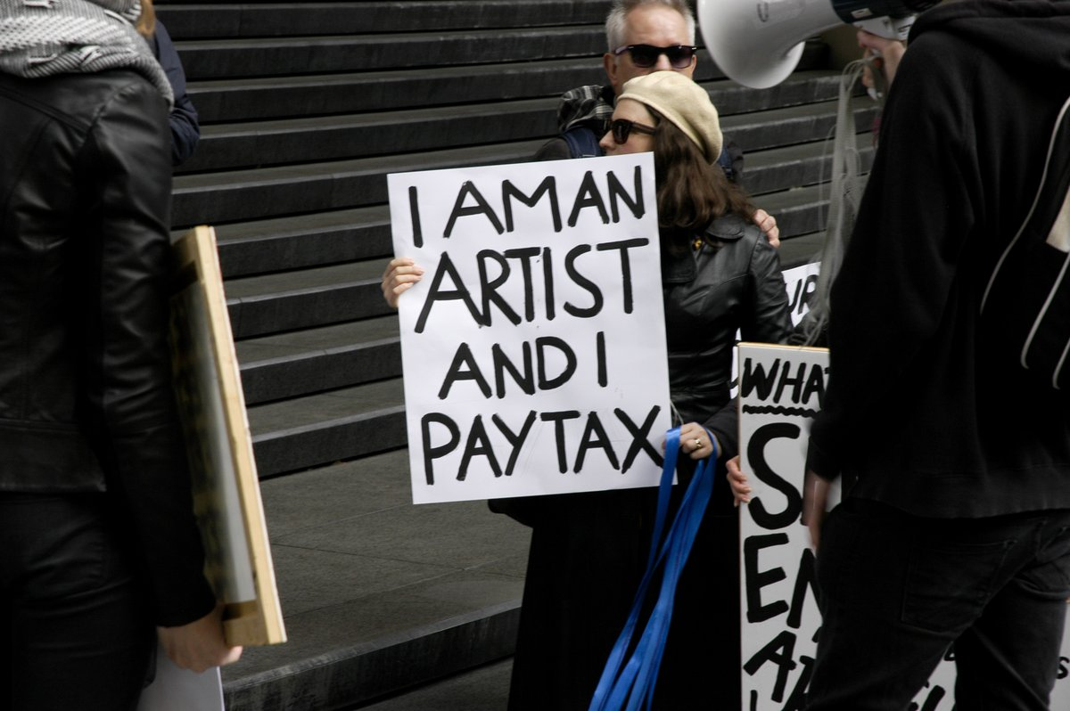 I am an artist and I pay tax