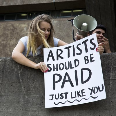 Artists should be paid