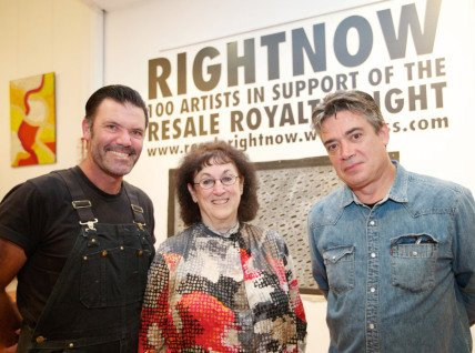 Opening night at RIGHTNOW exhibition